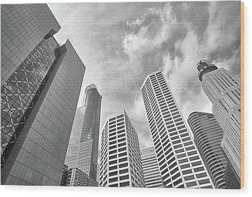 Skyline In Minneapolis, Minnesota Wood Print by Jim Hughes