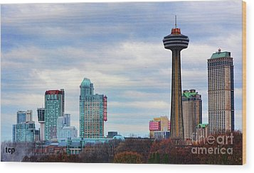 Wood Print featuring the photograph Skyline Niagara by Traci Cottingham