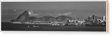 Skyline-rio De Janeiro-aeroporto Wood Print