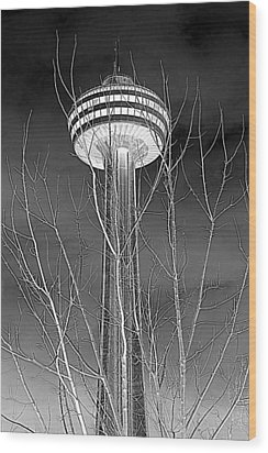 Wood Print featuring the photograph Skylon Tower by Valentino Visentini