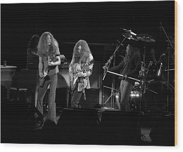 Skynyrd In Spokane Wood Print by Ben Upham