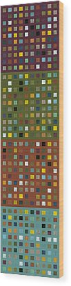 Skyscraper Abstract Ll Wood Print by Michelle Calkins