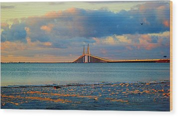 Skyway Bridge Wood Print