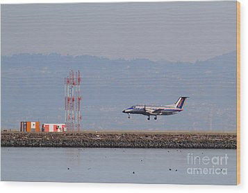 Skywest Airlines Jet Airplane At San Francisco International Airport Sfo . 7d12127 Wood Print by Wingsdomain Art and Photography