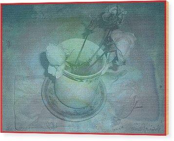 Skyworks 1 Rose Wood Print by Friedl Aigner