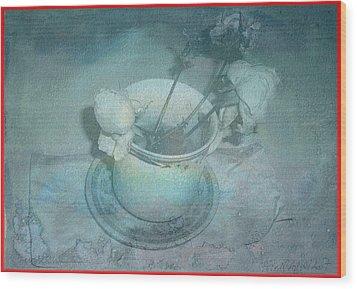 Skyworks 5 Rose Wood Print by Friedl Aigner