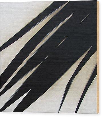 Slash Wood Print by Slade Roberts