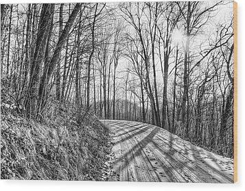 Sleep Hallow Road Wood Print