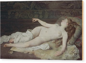 Sleep Wood Print by Louis Joseph Raphael Collin