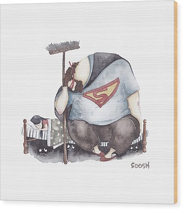 Sleep My Little One Wood Print by Soosh