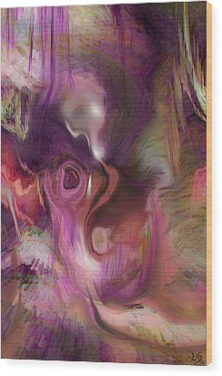 Sleep Of No Dreaming Wood Print by Linda Sannuti