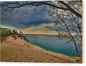 Sleeping Bear Dunes Wood Print by Jason Naudi