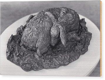 Sleeping Fawn Wood Print by Dawn Senior-Trask