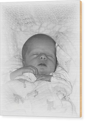 Sleeping Girl Wood Print