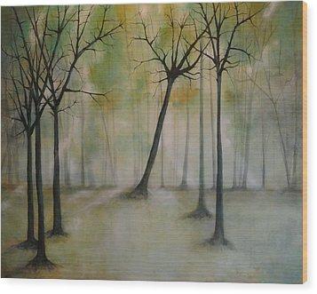 Sleeping Trees Wood Print