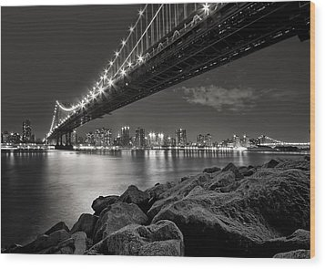 Sleepless Nights And City Lights Wood Print