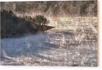Sleepy Morning On The Lake Wood Print