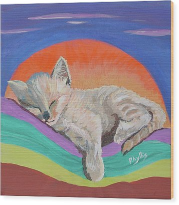 Wood Print featuring the painting Sleepy Time by Phyllis Kaltenbach