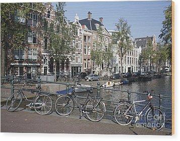 Wood Print featuring the photograph Sleutelbrug Amsterdam by Wilko Van de Kamp
