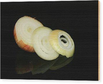 Slice Onion Wood Print