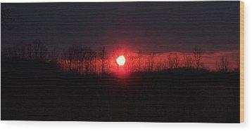 Slice Sunset Wood Print