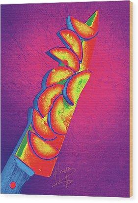 Slices Wood Print