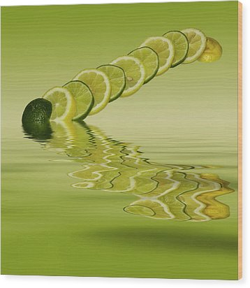 Wood Print featuring the photograph Slices Lemon Lime Citrus Fruit by David French