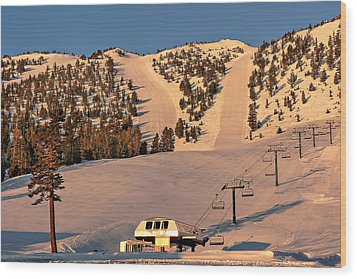 Slide Mountain Wood Print