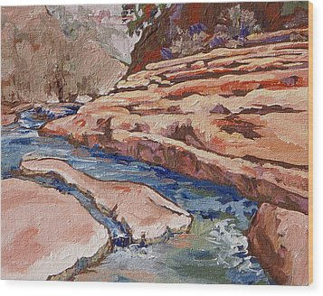 Slide Rock Wood Print