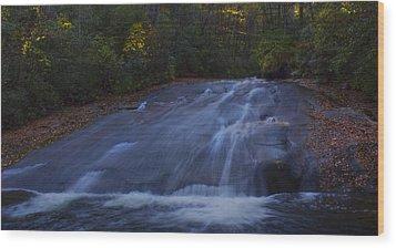 Wood Print featuring the photograph Sliding Rock Falls by Ellen Heaverlo