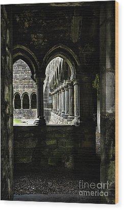Wood Print featuring the photograph Sligo Abbey Interior by RicardMN Photography