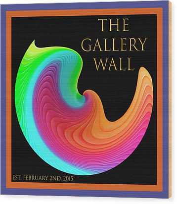 Wood Print featuring the photograph Slinky Dove Of Peace-the Gallery Wall Logo by Wendy Wilton