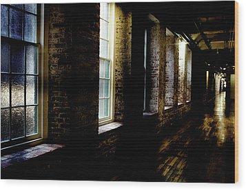 Slit Scan 5 Wood Print by Patrick Biestman