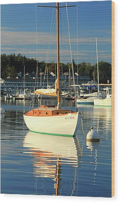 Sloop Reflections Wood Print by Roupen  Baker