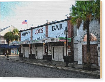 Sloppy Joe's Bar Key West Wood Print by Bill Cannon