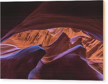 Lower Antelope Wood Print