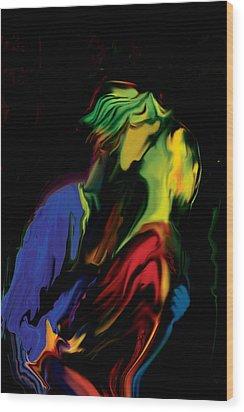 Wood Print featuring the digital art Slow Dance by Rabi Khan