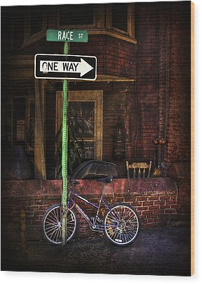 Slow Down On The Race Street Wood Print by Evelina Kremsdorf