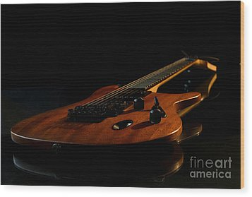 Wood Print featuring the photograph Slow-hand-guitar by Franziskus Pfleghart