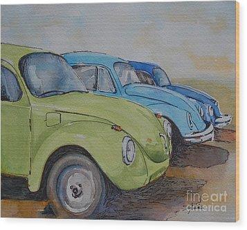Slugbug Green Wood Print by Gretchen Bjornson