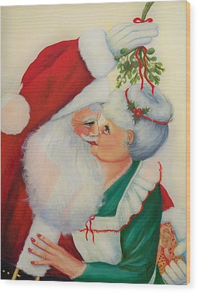 Sly Santa Wood Print by Joni McPherson