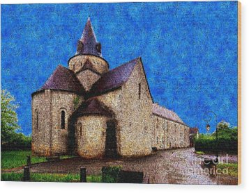 Small Church 4 Wood Print by Jean Bernard Roussilhe