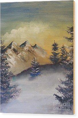 Small Pine  Wood Print by Crispin  Delgado