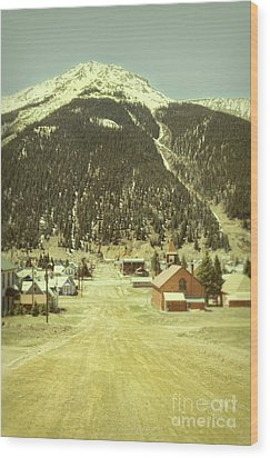 Wood Print featuring the photograph Small Rocky Mountain Town by Jill Battaglia