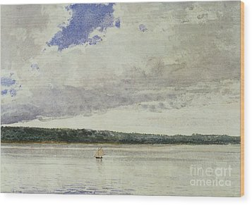 Small Sloop On Saco Bay Wood Print by Winslow Homer