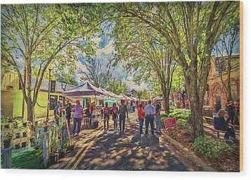 Wood Print featuring the photograph Small Town Festival by Lewis Mann