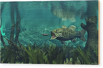 Smallmouth Bass Wood Print by Walter Colvin