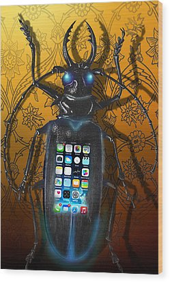 Smart Phone Wood Print by Larry Butterworth