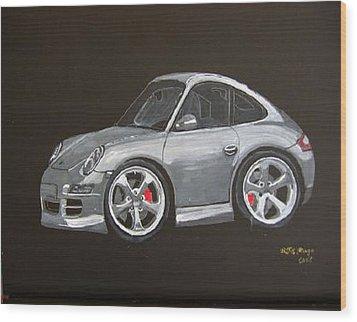 Smart Porsche Wood Print by Richard Le Page