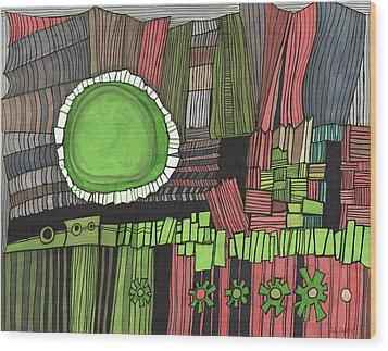 Sun Gone Green Wood Print by Sandra Church